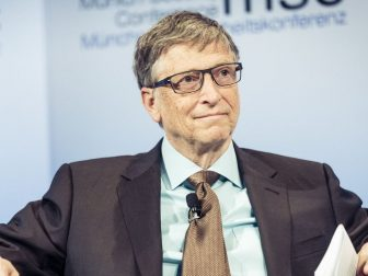 his Image is of Bill Gates. He was attending meeting on charity