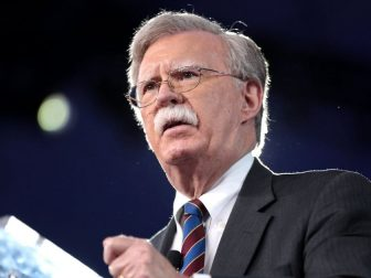 Former Ambassador John R. Bolton speaking at the 2017 Conservative Political Action Conference (CPAC) in National Harbor, Maryland.