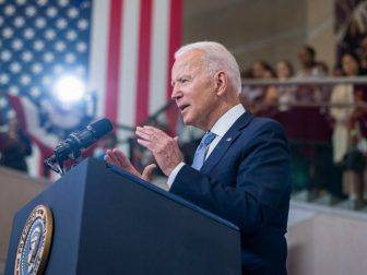 President Joe Biden delivers remarks on voting rights Tuesday, July 13, 2021, at the National Constitution Center in Philadelphia. (Official White House Photo by Adam Schultz)