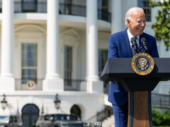 President Joe Biden delivers remarks at a clean cars event, Thursday, August 5, 2021, on the South Lawn of the White House. (Official White House Photo by Adam Schultz)