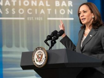 Vice President Kamala Harris delivers remarks virtually at the National Bar Association, Tuesday, July 27, 2021, in the South Court Auditorium in the Eisenhower Executive Office Building at the White House. (Official White House Photo by Lawrence Jackson)