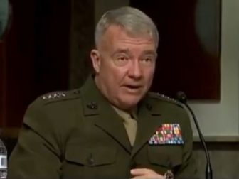 The head of the U.S. Central Command, Gen. Kenneth McKenzie, testifies before a Senate committee Tuesday.