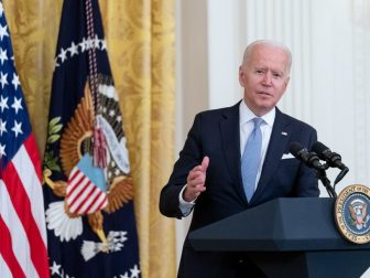 President Joe Biden delivers remarks on COVID-19 and the economy, Thursday, July 29, 2021, in the East Room of the White House. (Official White House Photo by Erin Scott)