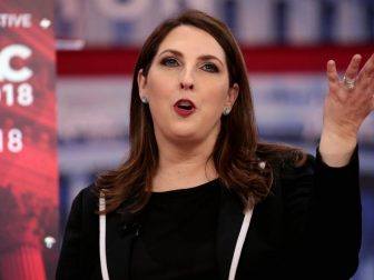 RNC Chairwoman Ronna McDaniel speaking at the 2018 Conservative Political Action Conference (CPAC) in National Harbor, Maryland.