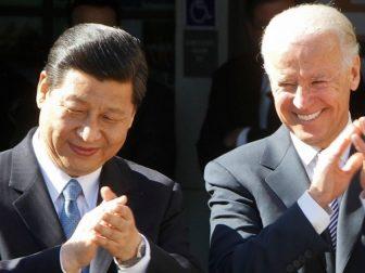 Xi Jinping, left, meets with then Vice President Joe Biden in February 2012.