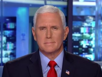 Former Vice President Mike Pence gives an interview on Hannity on Monday.