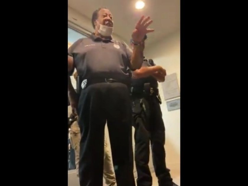 At a school board meeting in Moore County, North Carolina, police were deployed to block parents from entering the meeting and parents were threatened with arrest.